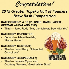 2015 Greater Topeka Hall of Foamers Brew Bash Competition
